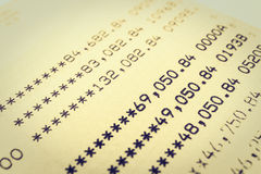 书银行报告帐户 免版税图库摄影