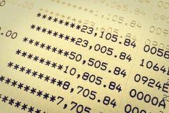 书银行报告帐户 库存图片