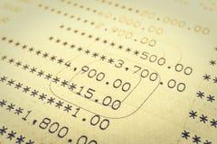 书银行报告帐户 免版税库存照片