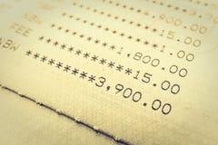 书银行报告帐户 免版税库存图片