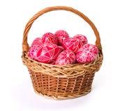 书面的传统transylvanian手鸡蛋 免版税库存照片