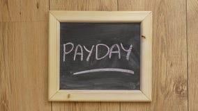 书面的发薪日 免版税库存图片