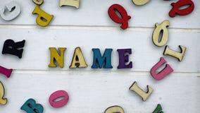 书面的名字 免版税库存图片