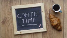 书面的咖啡时间 图库摄影