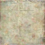 书面的破旧的老葡萄酒花卉纸纹理 库存照片