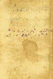 书面的配方老纸张 免版税库存照片