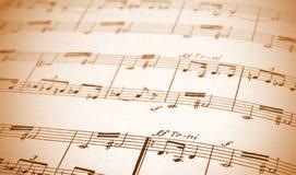 书面的音乐纸张 免版税库存照片