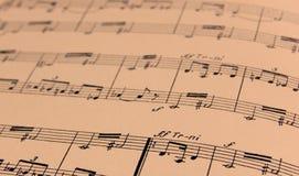 书面的音乐纸张 免版税图库摄影