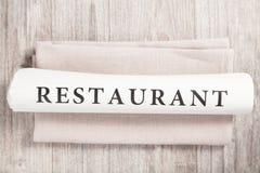 书面的餐馆 库存图片