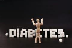 书面糖尿病 库存照片