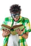 读书风镜 免版税图库摄影