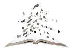 书飞行表单文本 免版税图库摄影
