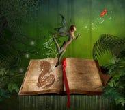 书魔术 向量例证
