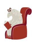 读书绵羊 库存照片