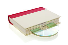书CD的dvd查出的白色 库存图片