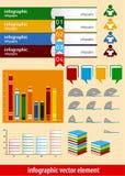 书infographic元素 免版税库存照片