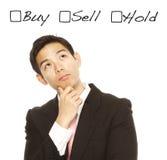购买、出售或者举行 免版税库存照片