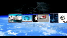 买卖人全球企业和脱氧核糖核酸技术生气蓬勃的录影  股票录像