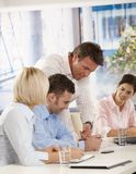 人们在业务会议在办公室 库存图片