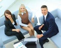 买卖人开会议在办公室 库存照片
