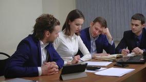 年轻买卖人队  会议,激发灵感 在办公室 影视素材