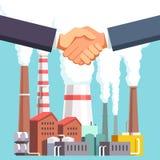 买卖工厂或能源设备 库存例证