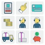 购买和销售在互联网 库存例证