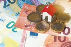 买房子的抵押和贷款 库存图片