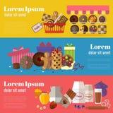 买的曲奇饼、饼干礼物和烘烤的曲奇饼 免版税库存照片