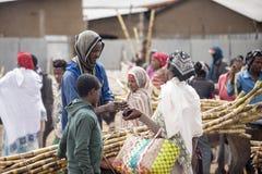 买的甘蔗在埃塞俄比亚 图库摄影