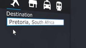 买的飞机票向比勒陀利亚在网上 旅行到南非概念性3D翻译
