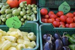 买菜在卢布尔雅那 免版税库存图片