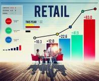 购买资本主义顾客概念的零售购物 免版税库存照片