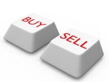 买进卖出按钮 免版税库存照片