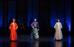 乱伦三角死亡宴餐现代戏曲女皇在宫殿 库存图片