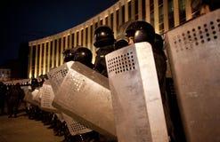 暴乱在基辅 免版税库存图片