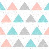 乱画三角无缝的背景 抽象模式 免版税库存图片