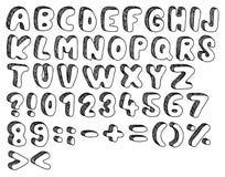 乱画字体 库存例证