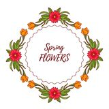 乱画开花围绕框架装饰花卉元素 免版税库存图片