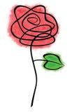 乱画玫瑰色 库存图片