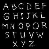 乱画简单的抓痕英语字母表 手拉的拉丁白色l 库存例证