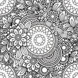 乱画花卉无缝的样式 免版税库存照片