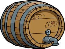 乱画葡萄酒桶 库存图片
