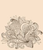 乱画颜色花卉背景 库存图片