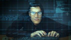 乱砍入计算机的夜贼 影视素材