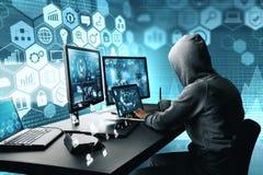 乱砍和窃贼概念 库存照片