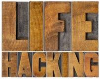 乱砍在木类型的生活词摘要 免版税库存图片