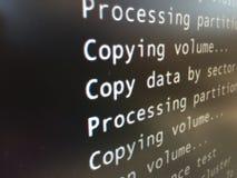 乱砍拷贝数据 免版税库存照片