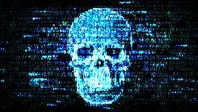 乱砍机密资料 在互联网上的黑客 库存图片