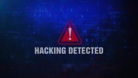 乱砍眨眼睛在屏幕上的检测戒备警告的错误信息 皇族释放例证
